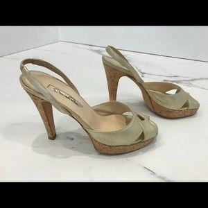 Oscar de la Renta light golden heels